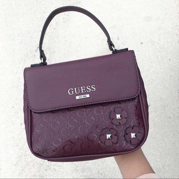 Guess Handbags - Guess Purple Handbag with Flowers ffdbda755dcfe